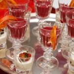 Vellutata di barbabietola, yogurt greco e succo d'arancia