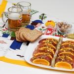 Spuntino per due: bresaola di cinghiale, arance, carciofi e...